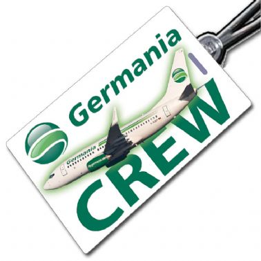 Germania 737-700 crew tag